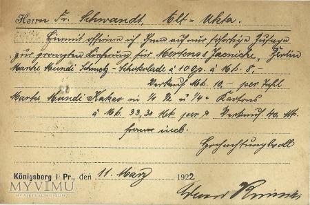 Eduard Korinski Konigsberg 1922 r.