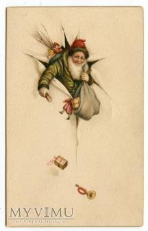 c. 1930 Święty Mikołaj idzie przebojem...