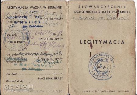 Legitymacja OSP-Halickie 1947.