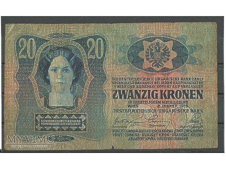 C.K. 20 koron.