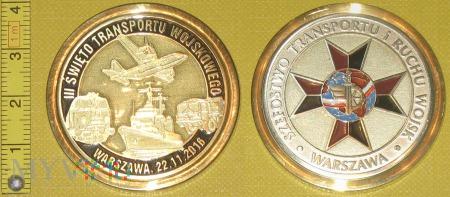 Medal kolejowy - wojskowy Święta Transportu Woj.