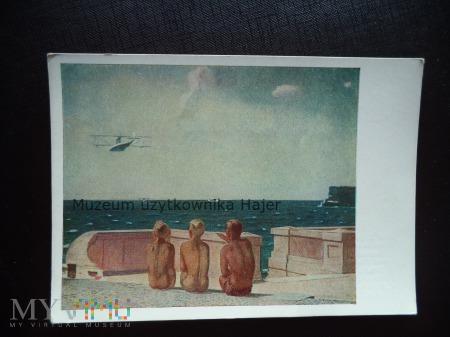 Malarstwo - kartka pocztowa ZSRR - Изогиз