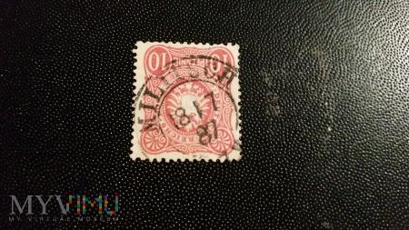 10 PFENNIGE DUZA TARCZA MILITSCH 1887 r