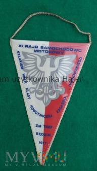 ZM TKKF Będzin 1977 rajd samochodowo - motorowy