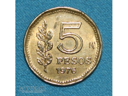 5 Pesos-Argentyna 1976