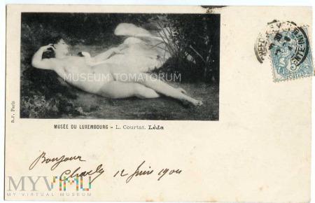 Duże zdjęcie Courtat - Leda z łabędziem