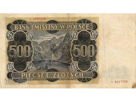 500 Złotych 01.03.1940 r.