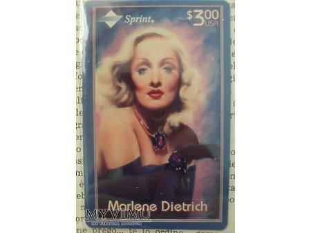 Marlene Dietrich Karta Telefoniczna SPRINT USA