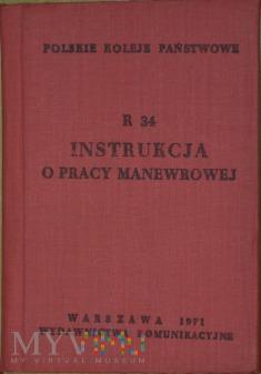 Duże zdjęcie 1971 - R 34 Instrukcja o pracy manewrowej