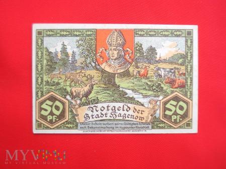 Notgeld Stadt Hagenow 50 Pf.1921 rok