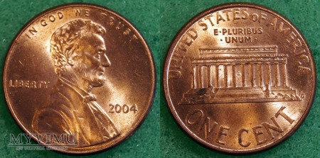 USA, ONE CENT 2004