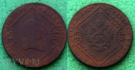 Austria, 15 kreutzer 1807