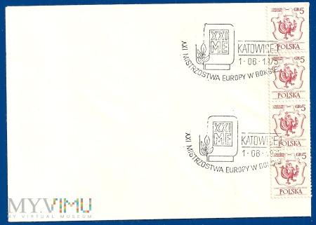 XXI Mistrzstwa Europy w Boksie-Katowice.1.6.1975.c