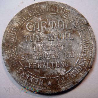 Niemcy - Żeton reklamowy Carmol ok. 1920 r.