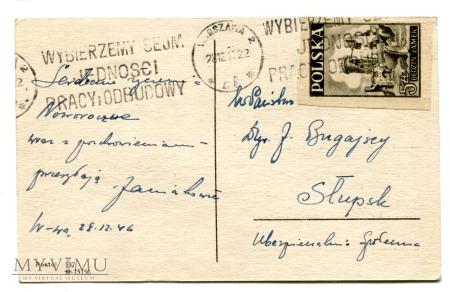 1946 Kominiarczyk szczęśliwy na Nowy Rok w PRL