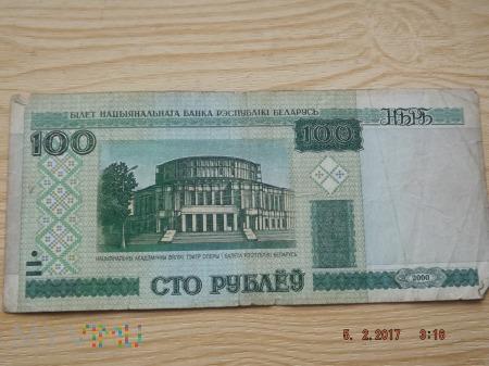 Białoruś 100 rubli