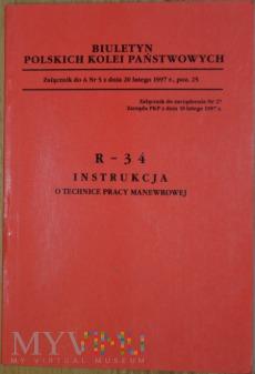 Duże zdjęcie 1997 - R-34 Instrukcja o technice pracy manewrowej