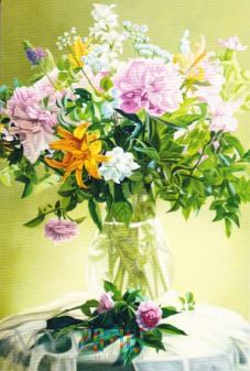 Duże zdjęcie Kwiaty w wazonie