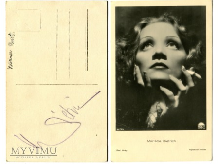 Marlene Dietrich Verlag ROSS 6675/2 + Autograf