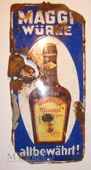 Blechschild Maggi s Wurze ok.1920 r !
