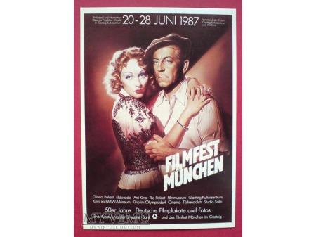 Marlene Dietrich Jean Gabin Plakat 1987 Pocztówka