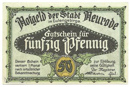 50 pfennig 1921 Nowy Ratusz
