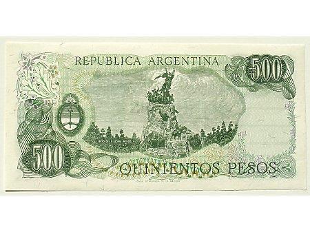 Argentyna- 500 Pesos UNC