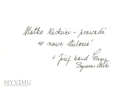 Obrazek od Kard. Józefa Glempa