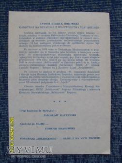 "Ulotki ""Solidarności"" (3 szt.) -1989r."