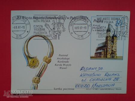 Papież Jan Paweł II wizyta w Polsce 1987