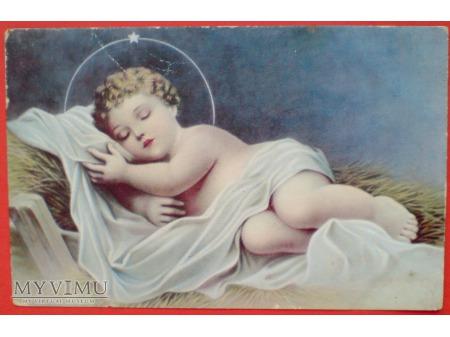 1953 Boże Narodzenie Czechosłowacja Jezusek