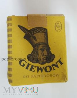 Papierosy Giewont 1960 rok.