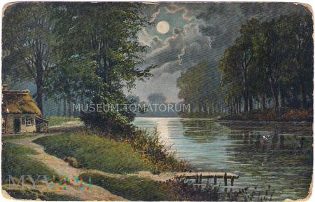 Pejzaż nocny z rzeką - 1932