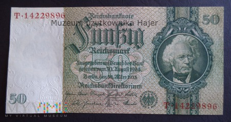 Niemcy - 1933 rok - 50 marek