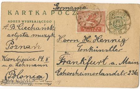 ADAM BRONISLAW CIECHANSKI 1921
