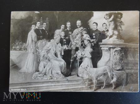 Rodzina Wilhelma II /król prus/ około 1905r.