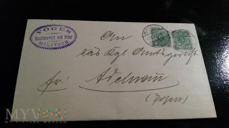 RECHTSANWALT u. NOTAR GOTTFRIED VOGES 1899 rok