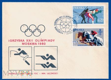 XXII Igrzyska Olimpijskie w Moskwie.31.3.1980.a