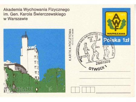 kartka pocztowa - pieczątka z Otwocka
