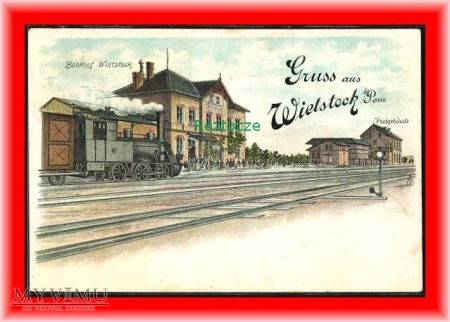 WYSOKA KAMIENSKA Wietstock i. PoM Dworzec kolejowy