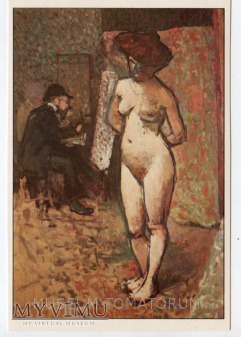 Marquet - Matisse malujący modelkę w atelier