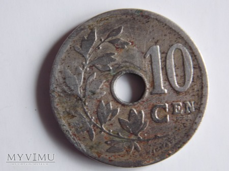 10 CENTIMÓW 1904-BELGIA