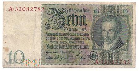 Niemcy.41.Aw.10 reichsmark.1929.P-180a