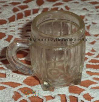 Szklany mini kufel beczka grube szkło