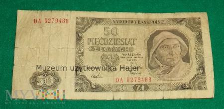 50 złotych - 1 lipca 1948
