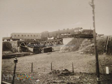 zniszczony pociąg 1939