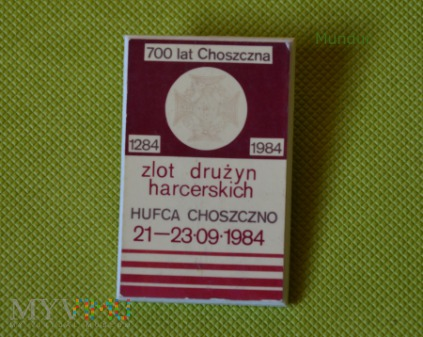 Duże zdjęcie Plakietka okolicznościowa 700 lat Choszczna - zlot