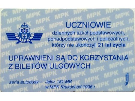 Bilet MPK Kraków 53