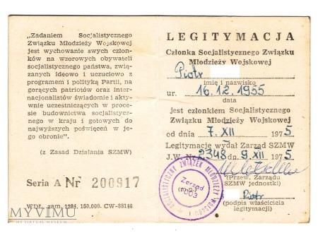 Socjalistyczny Związek Młodzieży Wojskowej - leg.