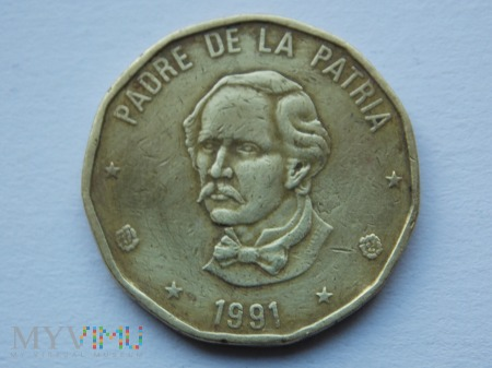 1 PESO 1991 - DOMINIKANA